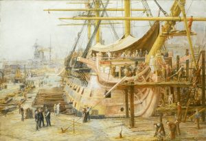 W.L. Wylie, c.1925. 'The Nelson Touch': Restoring HMS 'Victory', 1805-1925. NMM: BHC3701.
