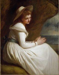 Emma Hart, later Lady Hamilton, circa 1765-1815 (also formerly known as 'Lady Hamilton as Ariadne'). George Romney. BHC2736