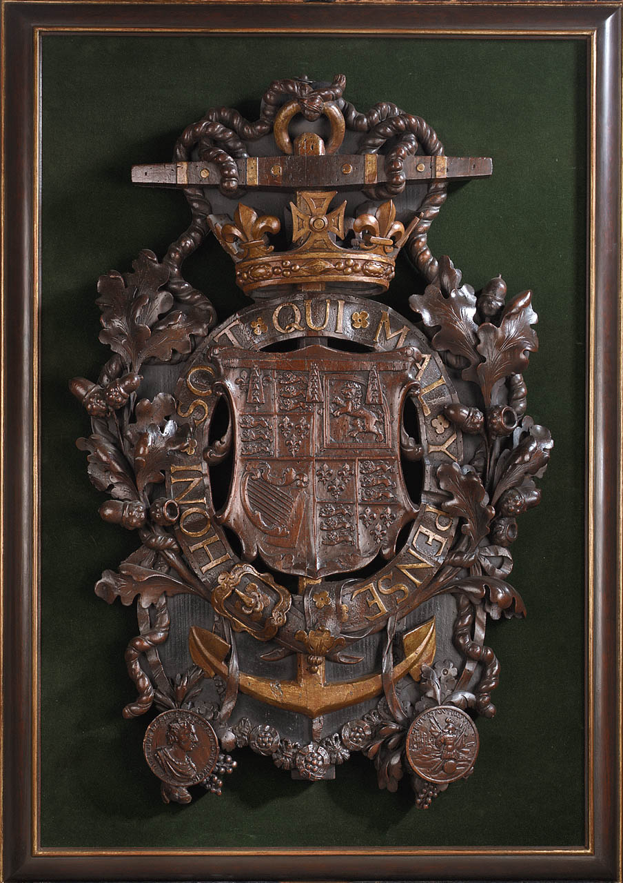Carved Coat Of Arms Of James Ii 1633 1701