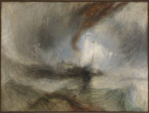 JMW Turner Snow Storm - Steam-Bar off a Harbour's Mouth, exhibited 1842 Tate Accepted by the nation as part of the Turner Bequest 1856