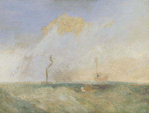 JMW Turner, Steamer and Lightship a study for The Fighting Temeraire, c. 1838-9, Tate